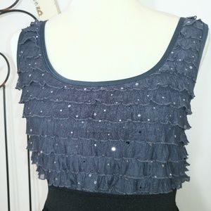 Xhilaration Dresses - Black and grey dress with sequins on top large